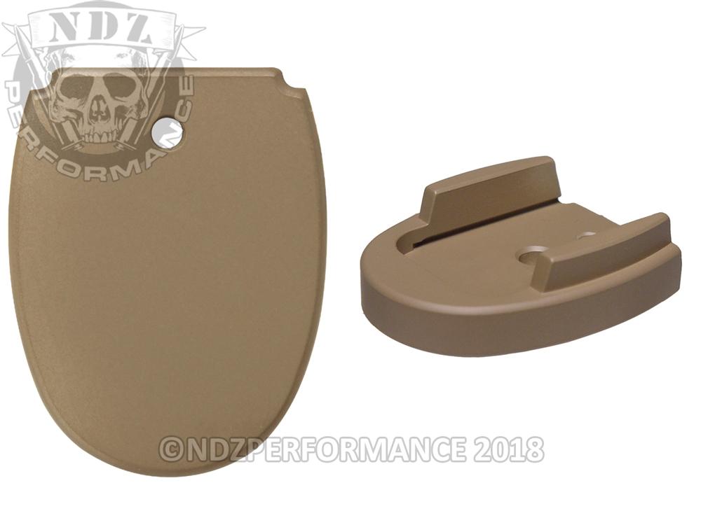 NDZ Magazine Floor Base Plate for Sig Sauer P320 P250 9mm  357  40 Cerakote  FDE