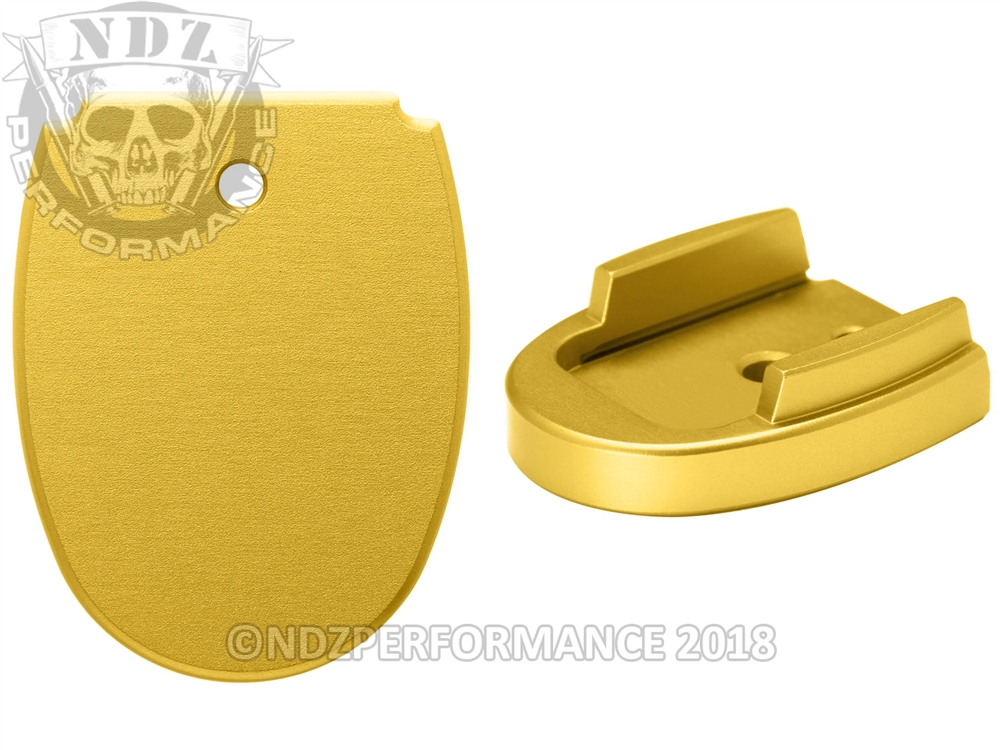 NDZ Magazine Floor Base Plate for Sig Sauer P320 P250 9mm  357  40 Gold  (*LZ)
