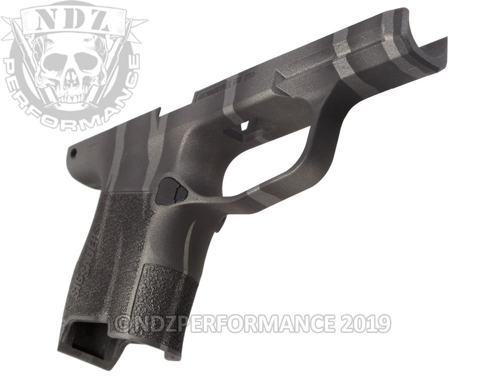 Sig Sauer P365 Grip Module Compact 9mm Cerakote Black & Tungsten Tiger  Stripe