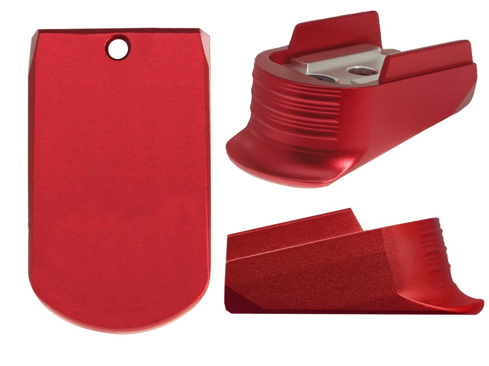 Sig Sauer P365 Magazine Finger Extension In Red (*LZ)