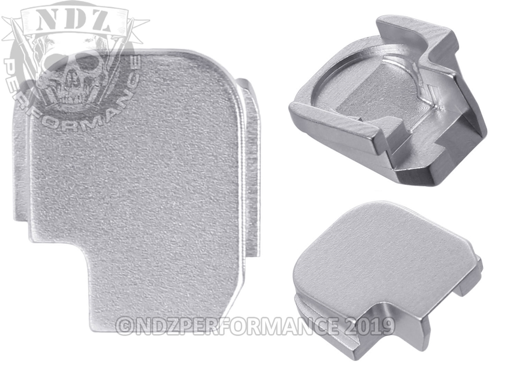 NDZ Rear Slide Plate for Sig P365 9MM Silver (*LZ)