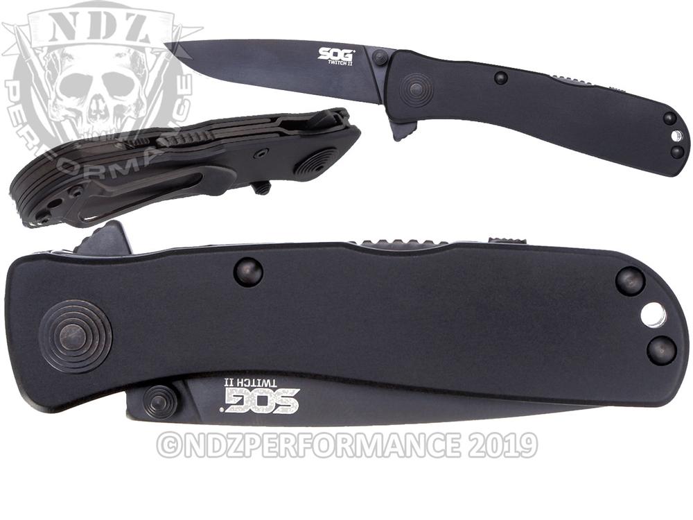 SOG Tactical Folding Knife Twitch II TWI12-CP Black (*LZ)