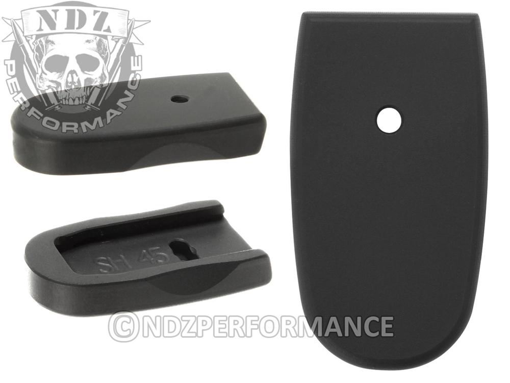 NDZ Black Magazine Plate for Smith & Wesson Shield  45 6RD (*LZ)