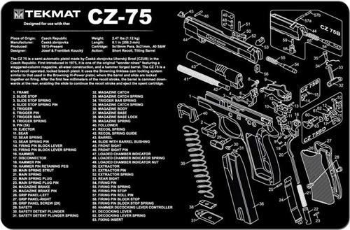 Tekmat Gun Cleaning And Maintenance Mat For Cz 75