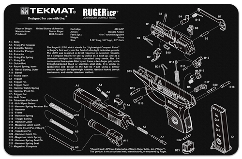 tekmat gun cleaning and maintenance mat for ruger lcpRuger Lcp Exploded Parts Diagram Ruger Lcp Pistol Pinterest #3
