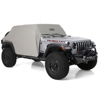Smittybilt Water-Resistant Cab Cover with Door Flaps (Gray) For 18+ Jeep Wrangler JL