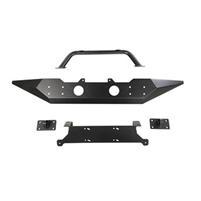 Rugged Ridge Spartan Front Bumper with Standard Ends and Overrider for 07-18 Jeep Wrangler JK