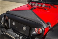Rugged Ridge Hood Bra - Black for 07-19 Jeep Wrangler JK/JKU