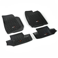 Rugged Ridge Front / 2nd Row Floor Liner Kit For 07-19 Jeep Wrangler JK 2 Door Models