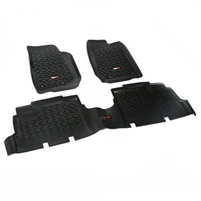 Rugged Ridge Front & Rear Floor Liner Kit For 2007-18 Jeep Wrangler JK Unlimited 4 Door Models