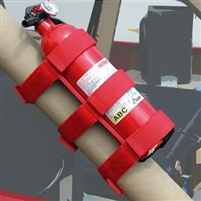 Rugged Ridge Fire Extinguisher Holder (Red)