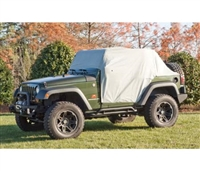 Rugged Ridge Weatherlite Cab Cover (Gray) for 07-19 Jeep Wrangler JK/JL, 2 Door Models