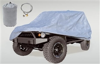 Rugged Ridge 3-Layer Car Cover with Cover, Bag Cable & Lock Kit 2007+ JK Wrangler and Rubicon