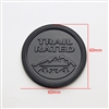 MATTE BLACK TRAIL RATED BADGE