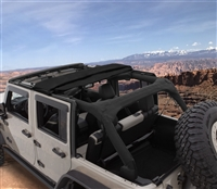 Bushwacker Trail Armor Frameless Fastback Soft Top for 07+ JK 4 Door Models