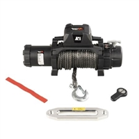 Rugged Ridge Trekker Winch, 12,500 LBS, Synthetic Rope, IP68 Waterproof, Wireless