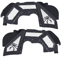 Poison Spyder Front Inner Fender Kit - Vented - Black for 18-20 Jeep Wrangler JL & Gladiator JT