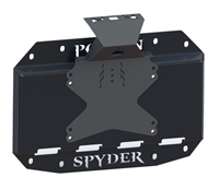 Poison Spyder Tire Carrier Delete Plate with Camera Mount (Black) for 18+ Jeep Wrangler JL
