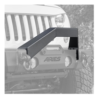 Aries Offroad TrailCrusher Front Bumper Angular Brush Guard (Black) For 18+ Jeep Wrangler JL 4 Door Models