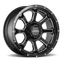 "Ultra   20"" 219 Nemesis Series Gloss Black Rims with Milled Accent"