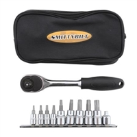 "SmittyBilt 9 Piece Torx Tool Kit With 3/8"" Ratchet & Carrying Case"