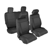 Smittybilt Neoprene Front and Rear Seat Cover Kit (Black/Black) for Jeep Wrangler JK 2 Door Models