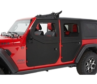 Bestop 2-Piece Full Fabric Doors, Front  for 18+ Jeep Wrangler JL