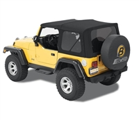 Bestop Supertop NX with Tinted Windows (Matte Black Twill) for Jeep Wrangler 1997 - 2006