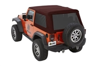 Bestop Trektop NX Glide Soft Top with Tinted Windows (Crushed Red Pepper) for 07+ JKU