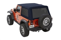 Bestop Trektop NX Glide Soft Top with Tinted Windows (Navy Blue) for JK 2 Doors Models
