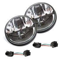Rigid Industries Truck-Lite 7 Inch Round Heated Lens LED Headlights w/ Anti-Flicker Adaptors