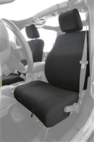 Smittybilt G.E.A.R. Front Seat Cover (Black) for 18+ JL and 20+ Gladiator JT