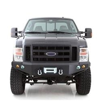 Smittybilt M1 Ford Superduty Winch Mount Front Bumper with D-ring Mounts and Light/ 08-10