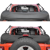 Smittybilt Soft Top Storage Boot (Black Diamond) for 18+ Jeep Wrangler JL 4 Door Models