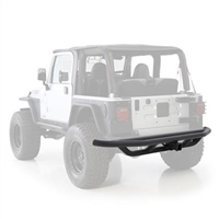 Smittybilt SRC Rear Bumper With Hitch In Black Textured For 1987-06 Jeep Wrangler YJ & TJ Models