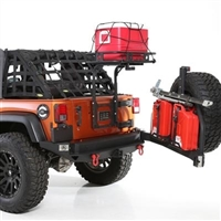 SmittyBilt Defender Rack Tailgate Bolt On Basket For 2007-18 Jeep Wrangler JK 2 and 4 Doors Unlimited Models