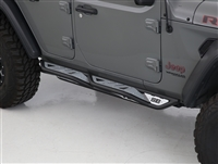 Smittybilt Apollo Rock Sliders with Steps for 07-19 Jeep Wrangler JK 4 Door Models