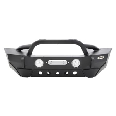 Smittybilt XRC Gen2 Front Bumper with Winch Plate - Light Texture Finish (Black) For Jeep Wrangler JK/JKU