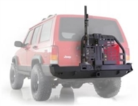 Smittybilt XRC Rear Bumper With Swing Out Tire Carrier & Hitch XJ