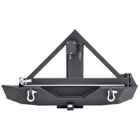 Smittybilt XRC Armor Rear Bumper with Hitch and Tire Carrier for 07-18 Jeep Wrangler JK 2 and 4 Door Models