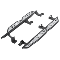 Smittybilt Apollo Rock Sliders with Steps for 18+ Jeep Wrangler JL 2 Door Models