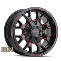 MAYHEM Wheels Warrior Black with Prism Red 20X9