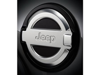 JL Jeep Fuel Door (Satin Chrome) MOPAR