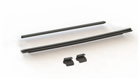 Rampage Products 87135 Black Tailgate Tonneau Bar Kit with Retainer Clips for 2007-2018 Jeep Wrangler JK