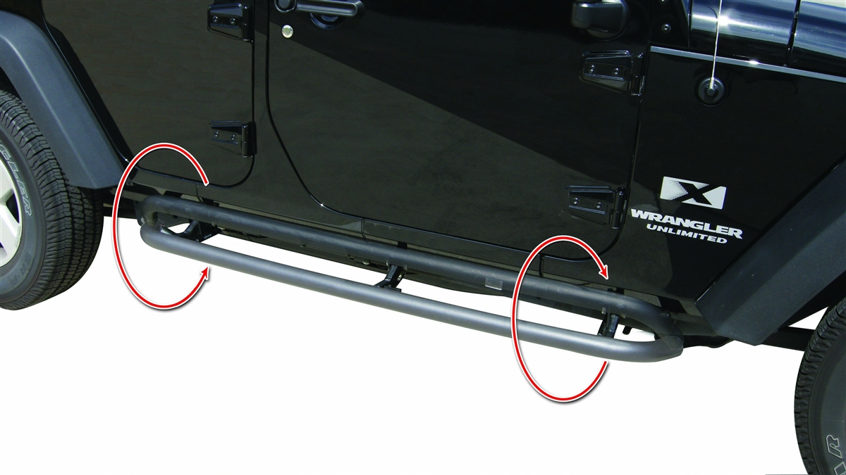 Rampage Products Textured Black Srs Side Bar Retractable