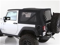 Smittybilt Premium Replacement Soft Top (Black Diamond) for 10-18 Jeep Wrangler JK 2 Door Models