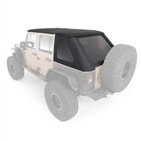 Smittybilt Bowless Combo Top with Tinted Windows for 07-18 Jeep Wrangler JKU 4 Door Models