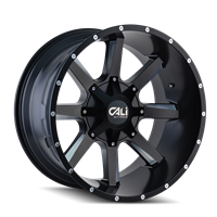 CALI Off Road BUSTED Satin Black with Milled Spokes 20x12 Full Rear