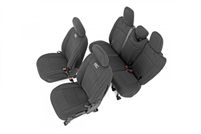 Rough Country Neoprene Seat Cover Set (Black) for 18-19 Jeep Wrangler JL