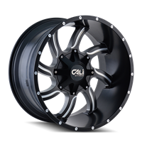 CALI Off Road TWISTED Satin Black with Milled Spokes 22x12